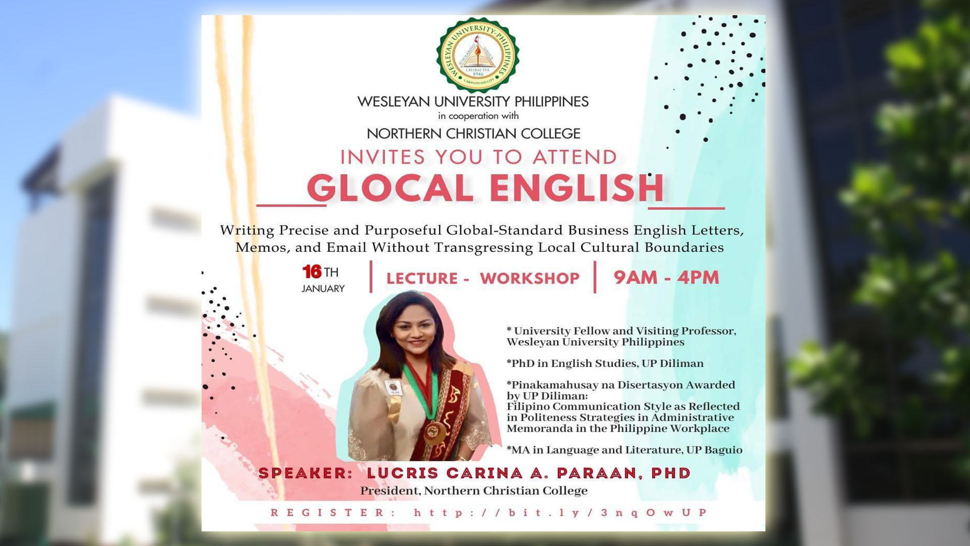 INVITES YOU TO ATTEND GLOCAL ENGLISH