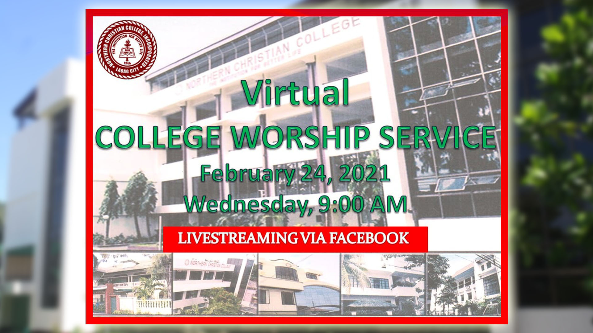 Virtual College Worship Service - February 24, 2021