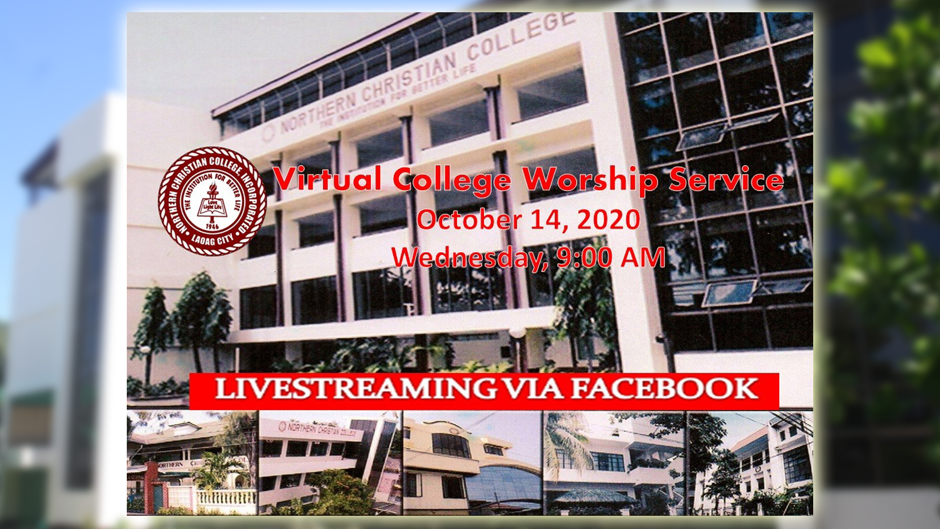 Virtual College Worship Service - October 14, 2020
